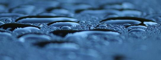 תמונה של טיפות מים
