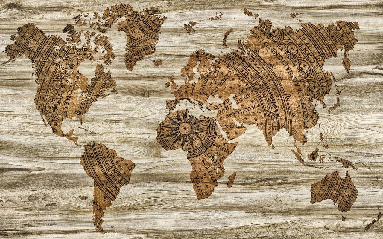 מפת העולם ישנה